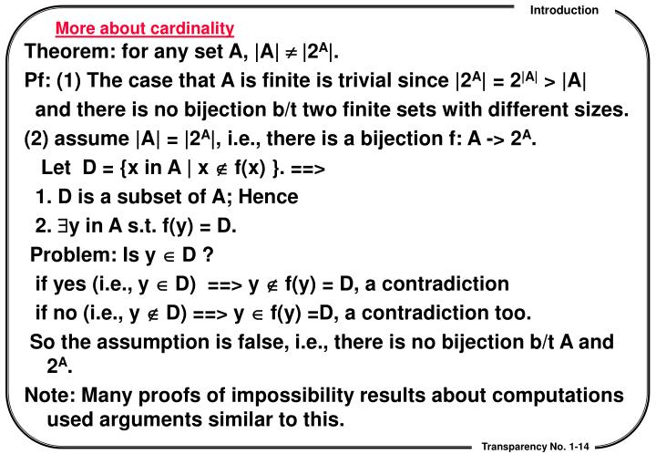 More about cardinality