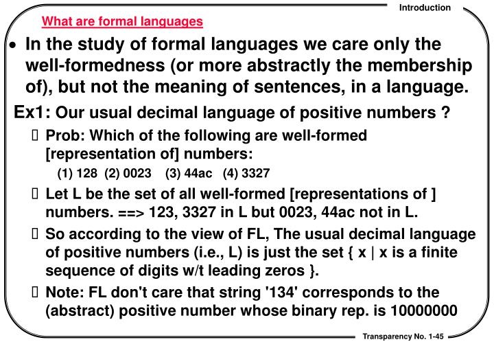 What are formal languages