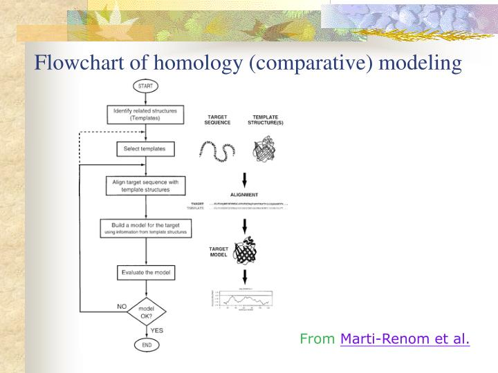 Flowchart of homology (comparative) modeling