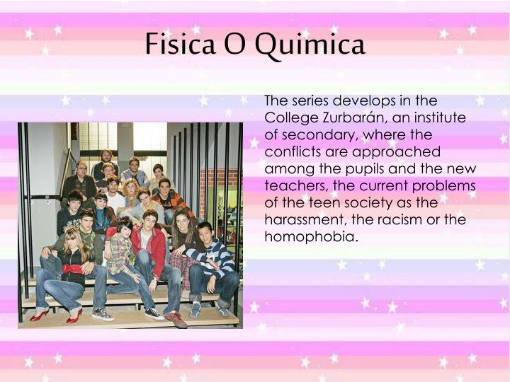 The series develops in the College Zurbarán, an institute of secondary, where the conflicts are approached among the pupils and the new teachers, the current problems of the teen society as the harassment, the racism or the homophobia.