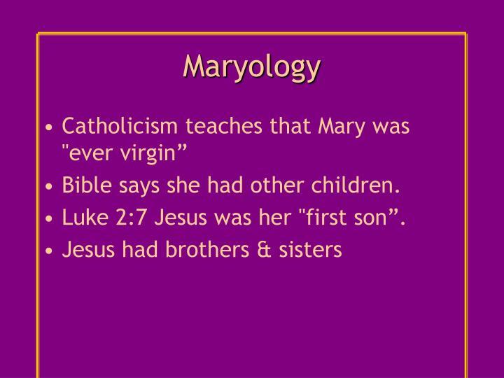 Maryology