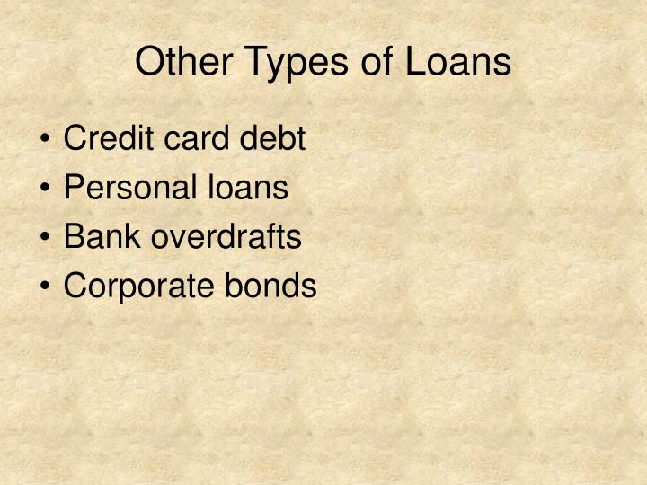 Other Types of Loans