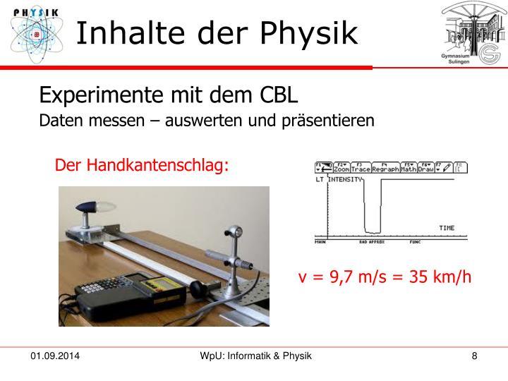 Inhalte der Physik