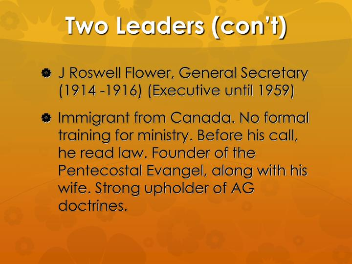 Two Leaders (con