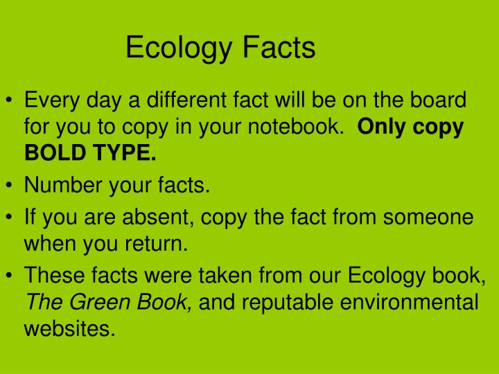 ecology facts n.