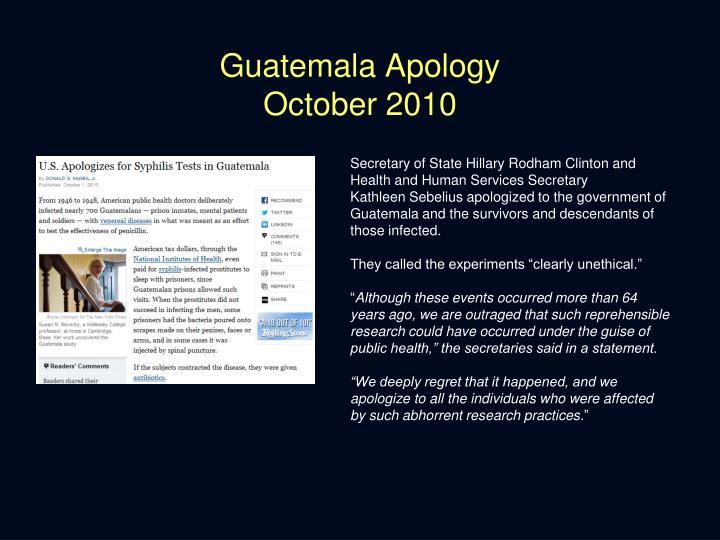 Guatemala Apology