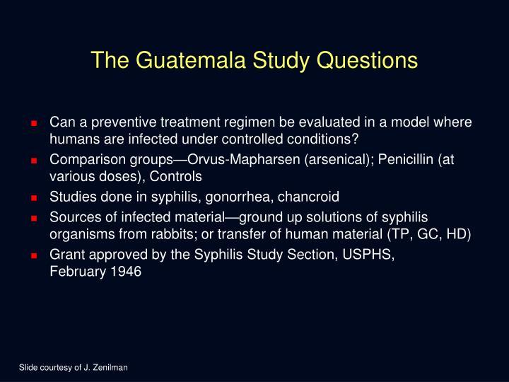 The Guatemala Study Questions