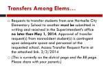 transfers among elems
