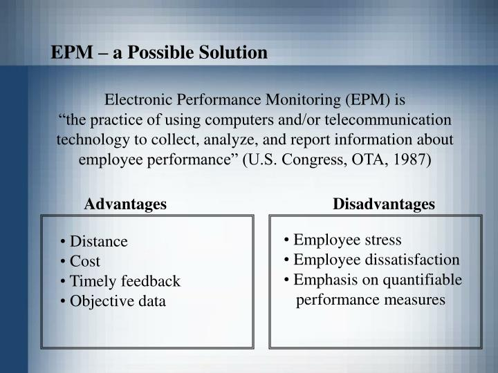 EPM – a Possible Solution