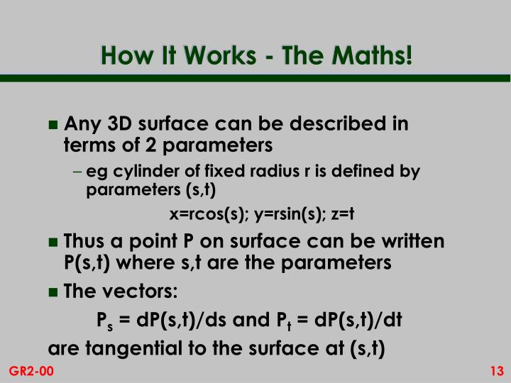 How It Works - The Maths!
