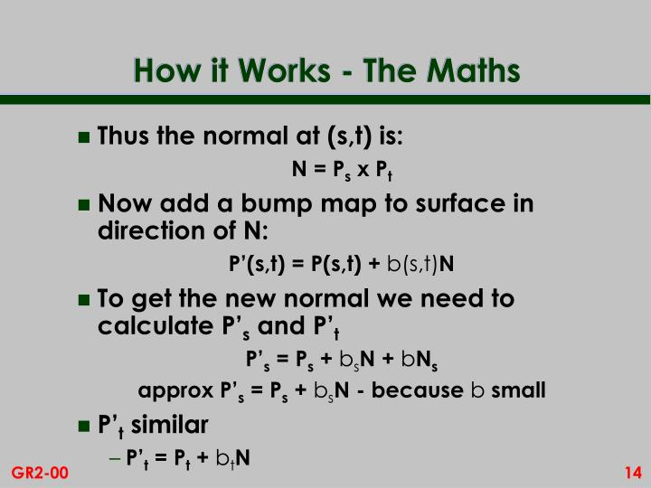 How it Works - The Maths
