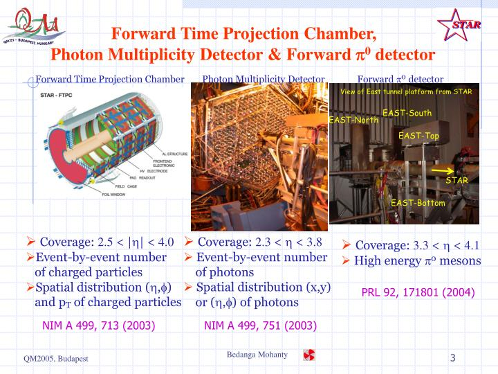 Forward time projection chamber photon multiplicity detector forward p 0 detector