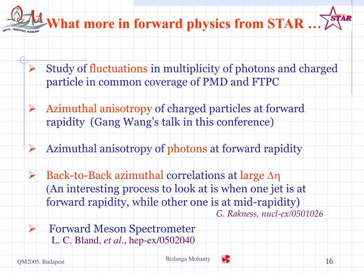 What more in forward physics from STAR …