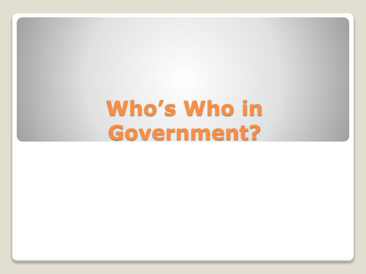 who s who in government n.