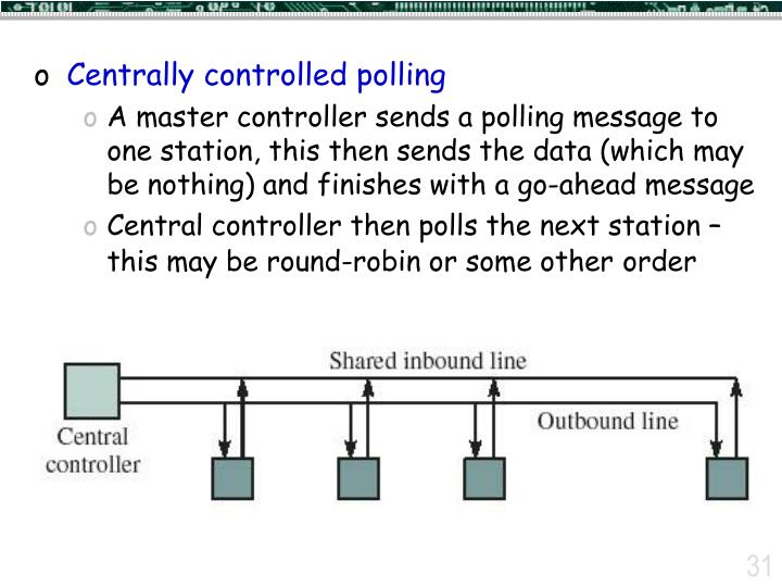 Centrally controlled polling