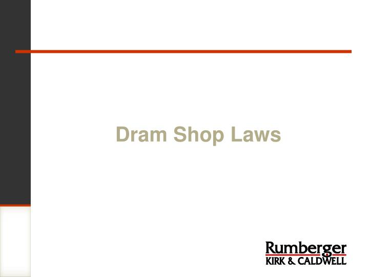 Dram shop laws