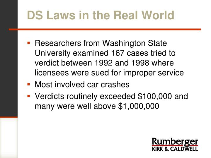 DS Laws in the Real World