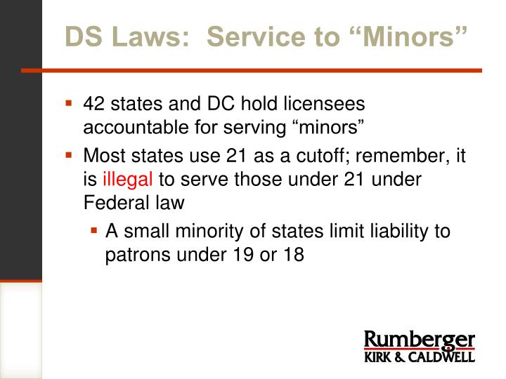 """DS Laws:  Service to """"Minors"""""""