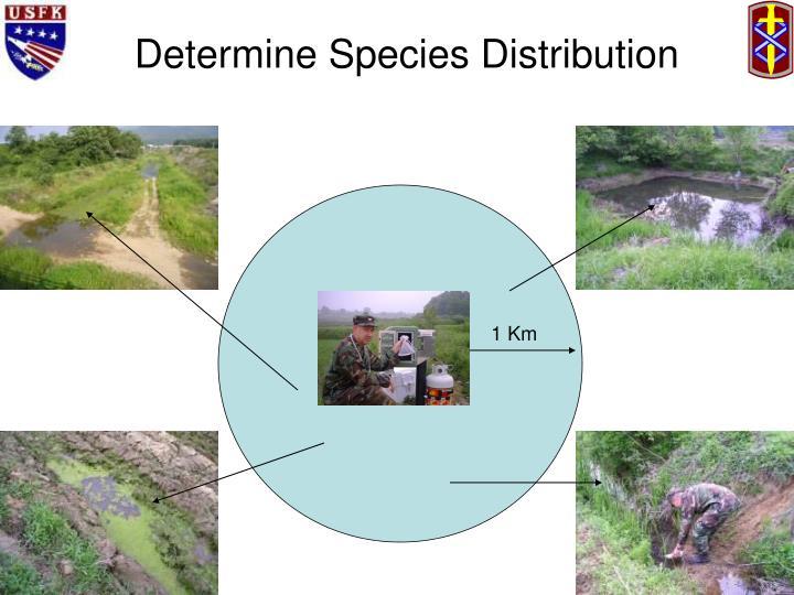 Determine Species Distribution