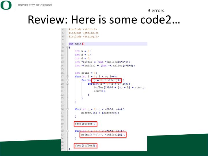 Review: Here is some code2…