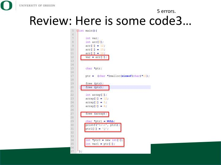 Review: Here is some code3…