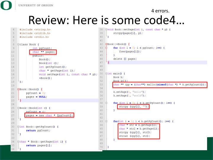 Review: Here is some code4…