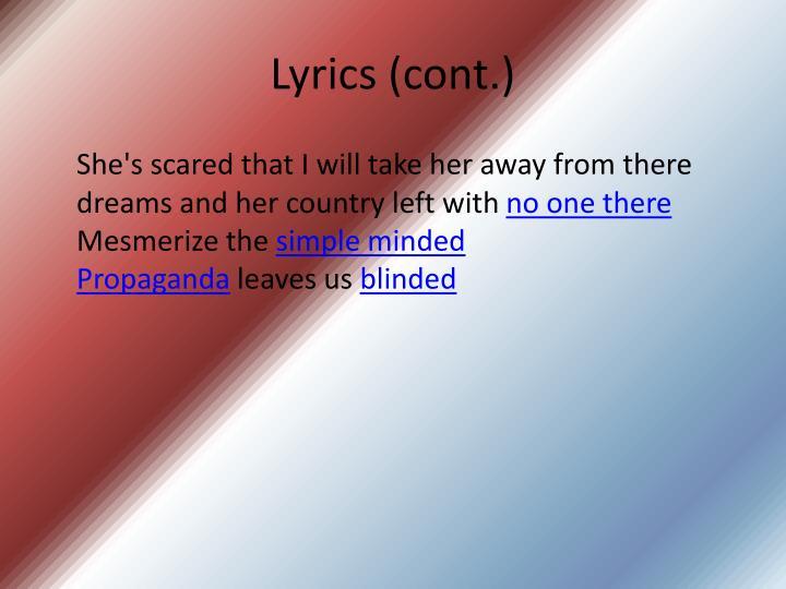 Lyrics cont