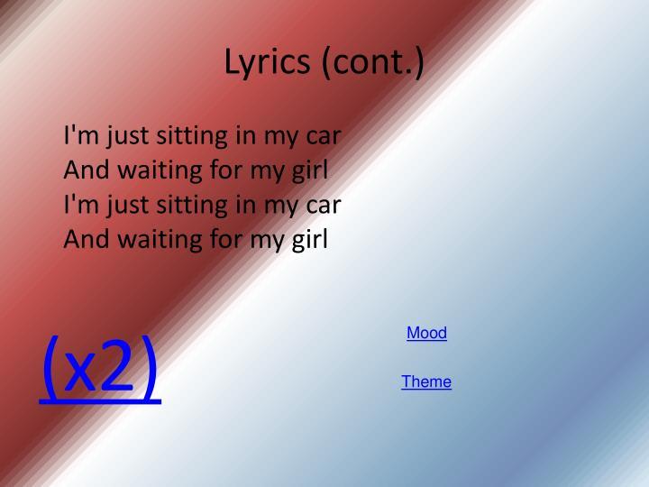 Lyrics (cont.)