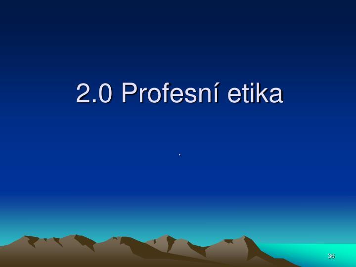 2.0 Profesní etika