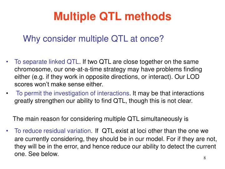 Multiple QTL methods