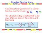 detecting neutrino mass