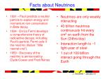 facts about neutrinos