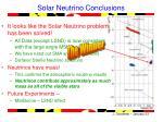 solar neutrino conclusions