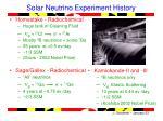solar neutrino experiment history