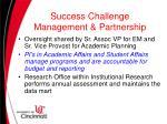 success challenge management partnership