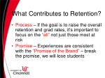 what contributes to retention1