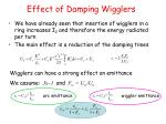 effect of damping wigglers