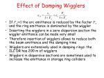 effect of damping wigglers1