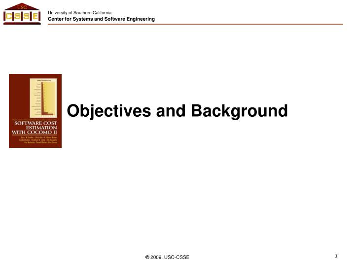 Objectives and background