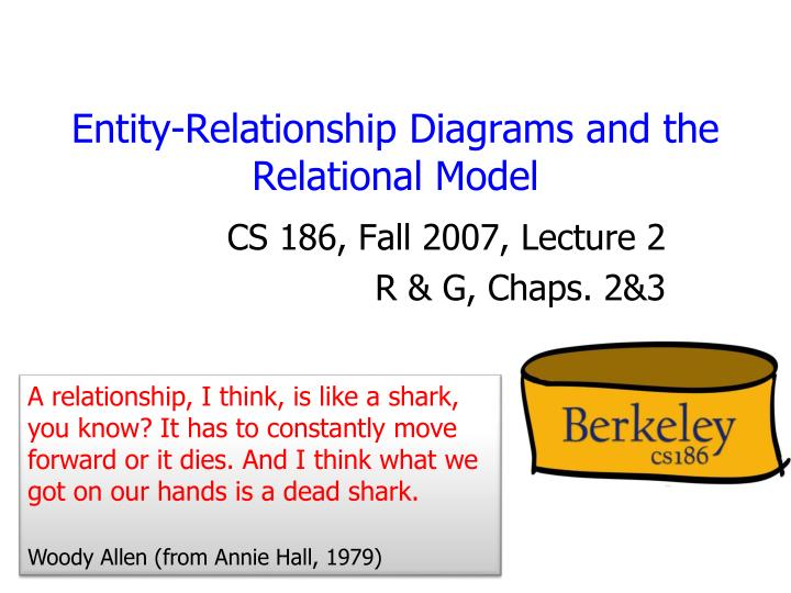 Ppt entity relationship diagrams and the relational model entity relationship diagrams and the relational model ccuart Gallery
