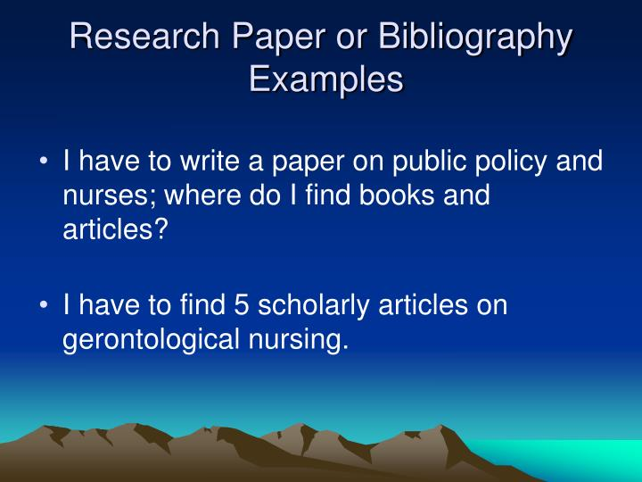 research paper bibliography example