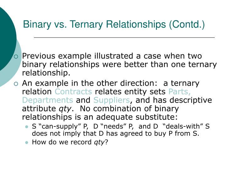 Binary vs. Ternary Relationships (Contd.)