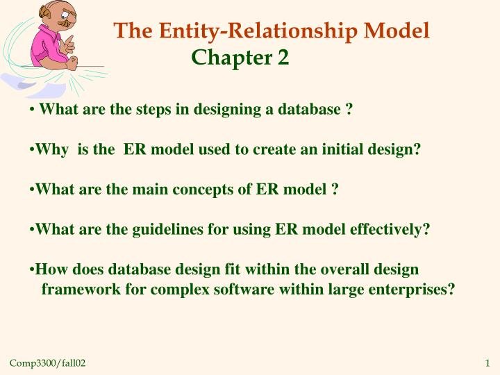 Ppt the entity relationship model chapter 2 powerpoint what are the steps in designing a database ccuart Gallery