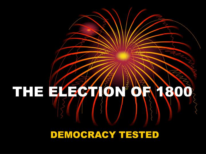 the election of 1800 n.