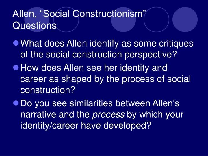 """Allen, """"Social Constructionism"""""""