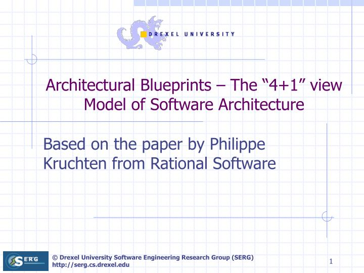 Architectural Blueprints The 4 1 View Model Of Software Architecture