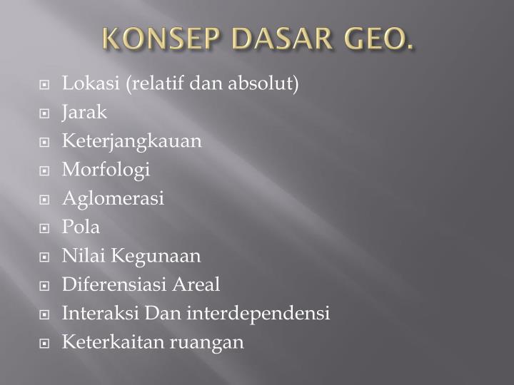 KONSEP DASAR GEO.