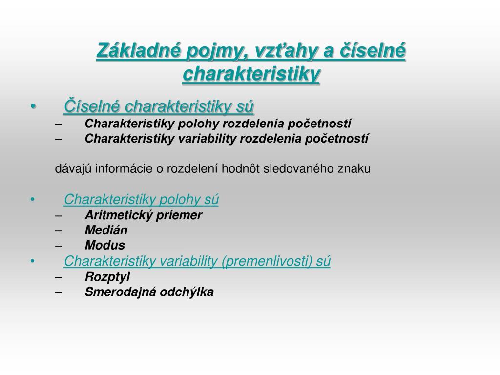 PPT - ŠTATISTIKA a vyriešenie úlohy v programe EXCEL