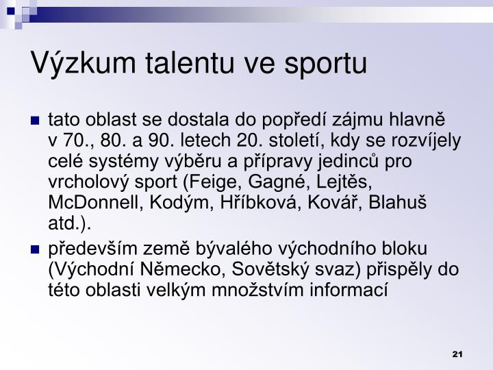 Výzkum talentu ve sportu