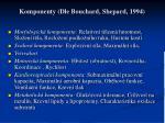 komponenty dle bouchard shepard 1994